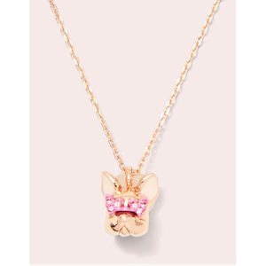 KATE SPADE Francois French Bulldog Necklace